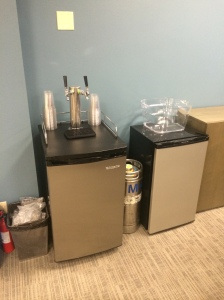 Because no office is complete without its own kegerator.