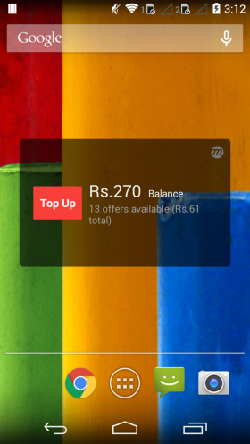 Button appears when eWallet balance is enough to topup
