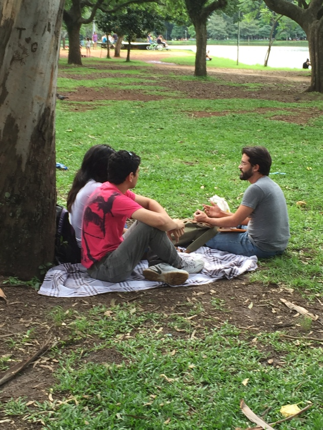 Interviewing potential users in Parque ibirapuera